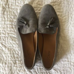 J. Crew grey suede loafers